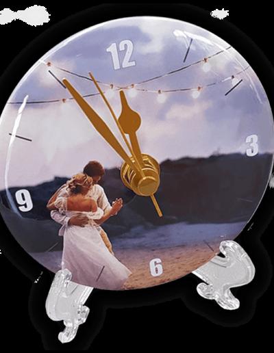 customised clock wedding