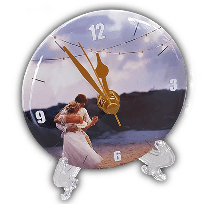 customised clock wedding
