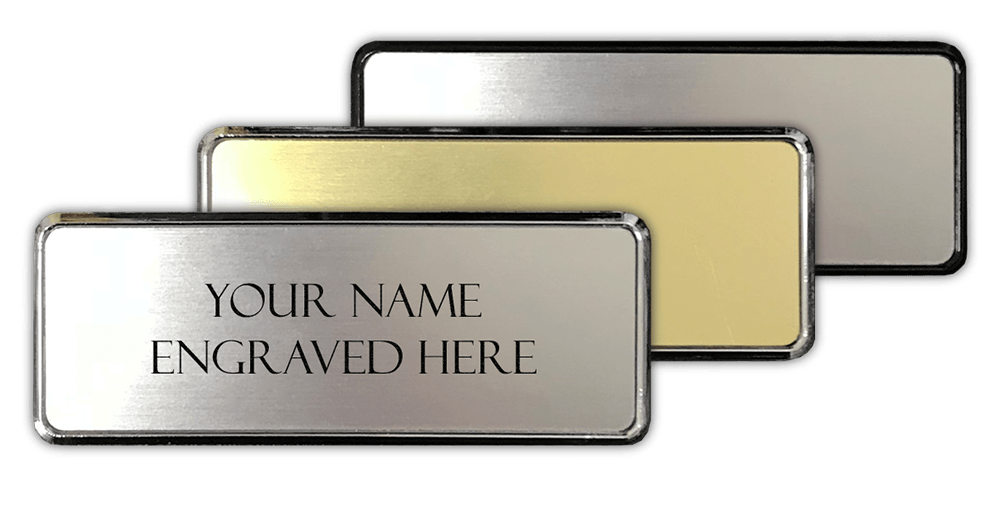 framed name badges