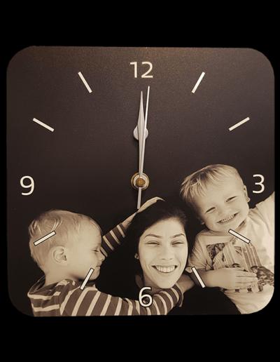 customised clock family photo