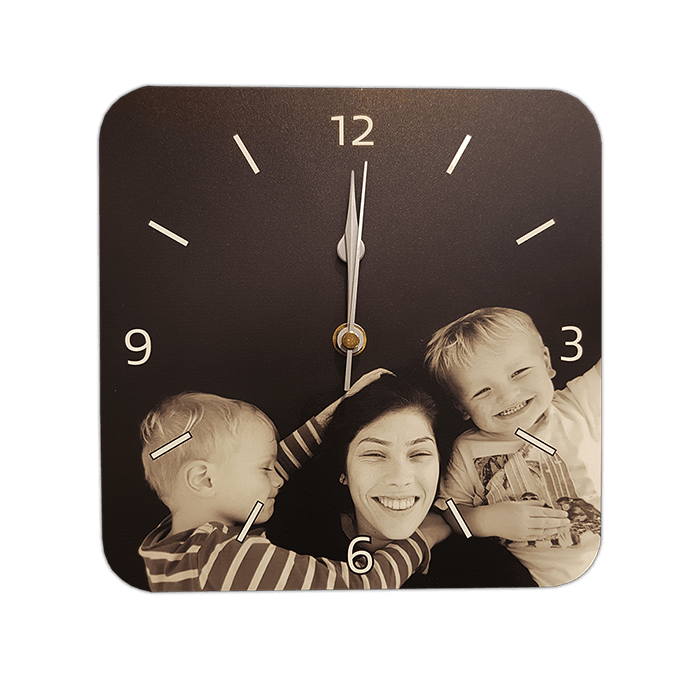 customised clock family photo