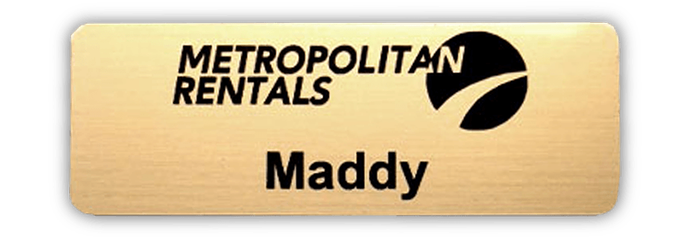 name badge metropolitan rentals